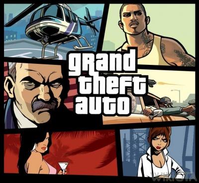 Grand Theft Auto logo.